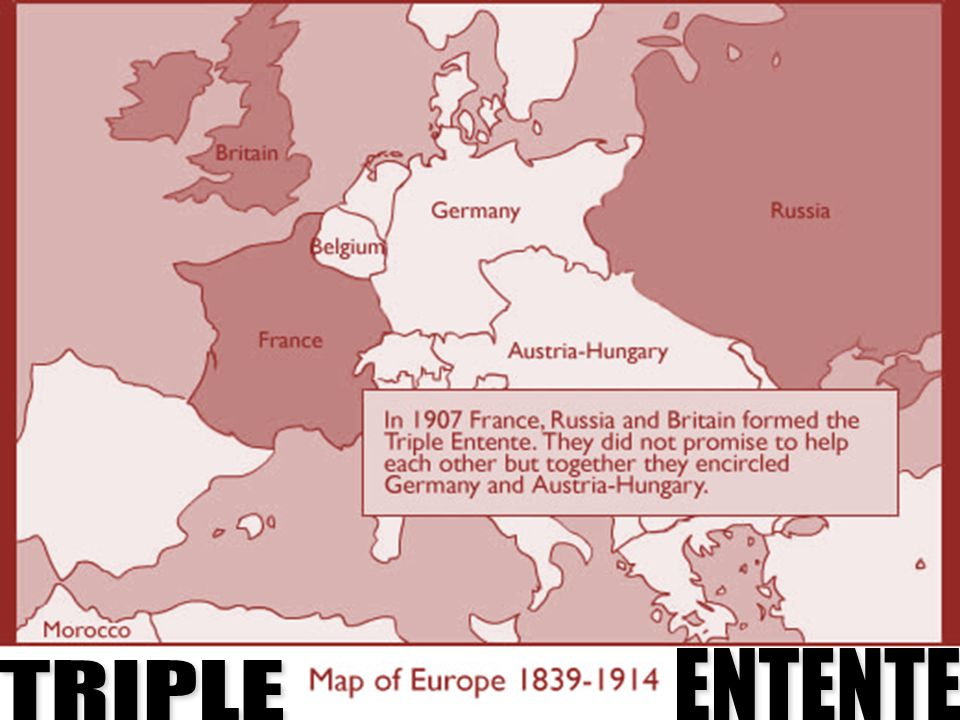 TRIPLE ALLIANCE GERMANY AUSTRIA-HUNGARY ITALY ENTENTE TRIPLE 22