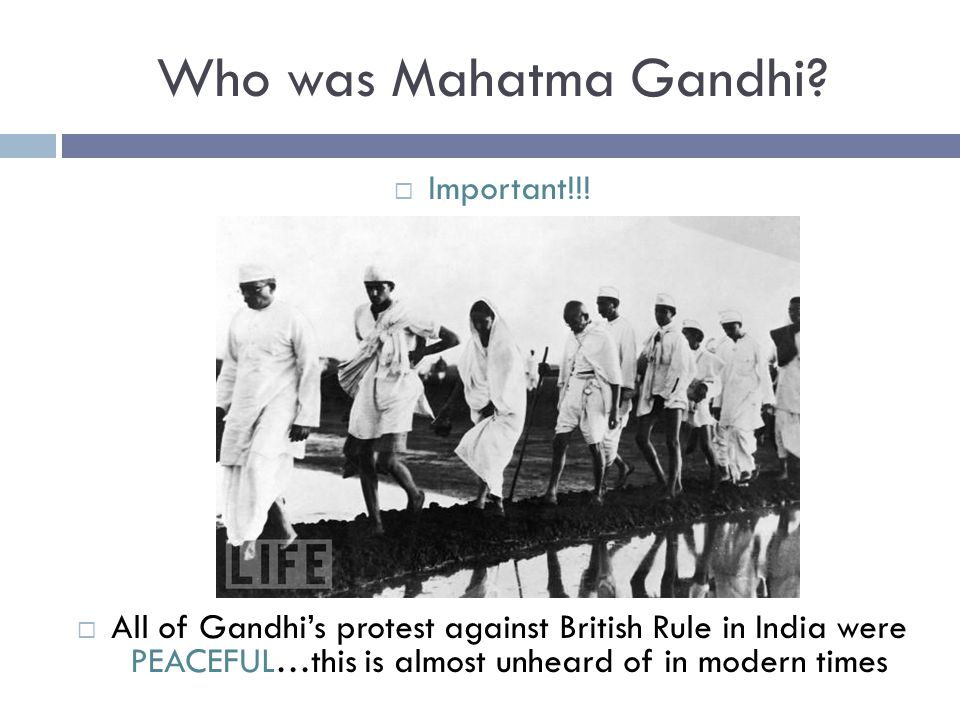 Who was Mahatma Gandhi Important!!!