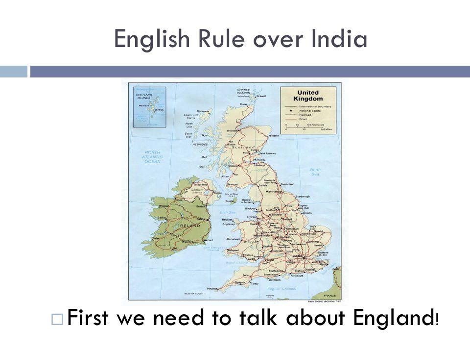 English Rule over India