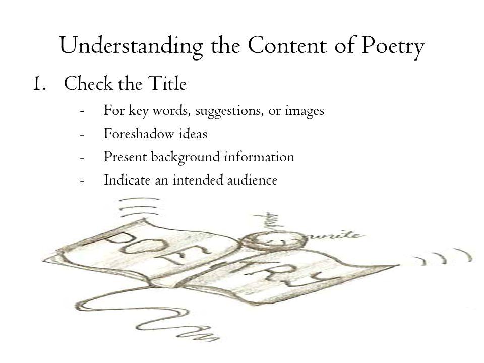 Understanding the Content of Poetry