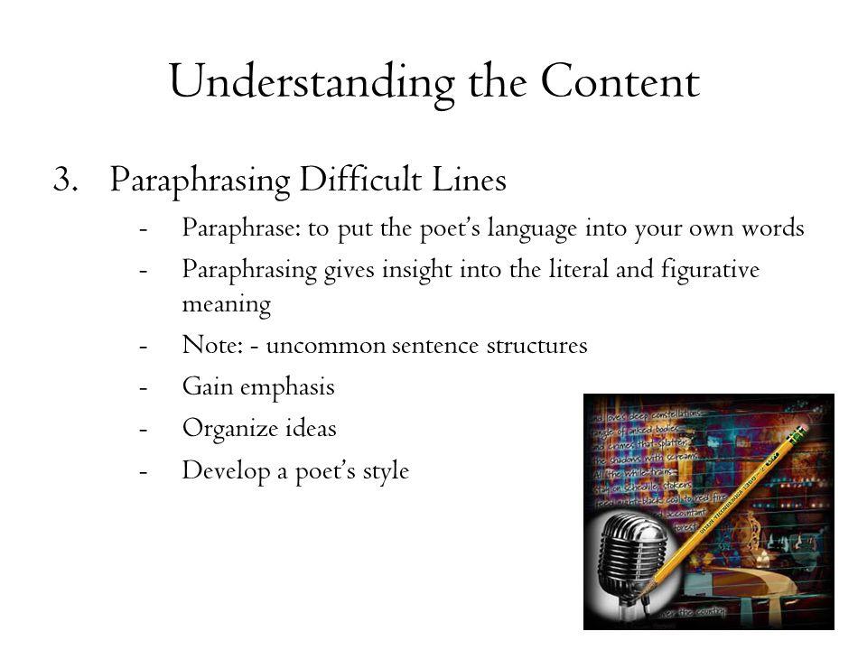 Understanding the Content