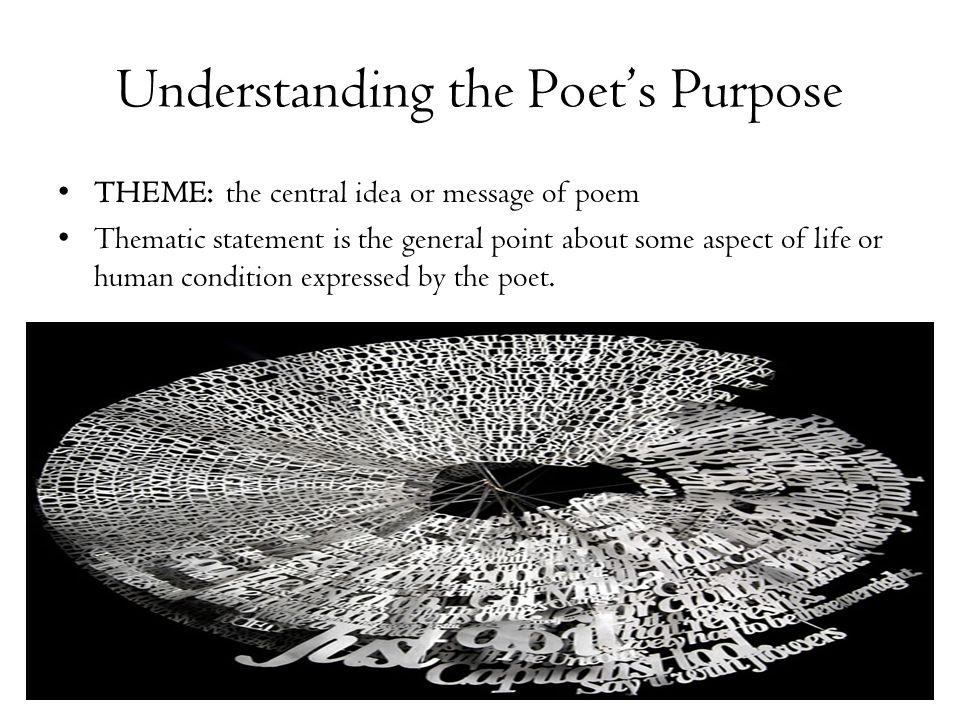 Understanding the Poet's Purpose
