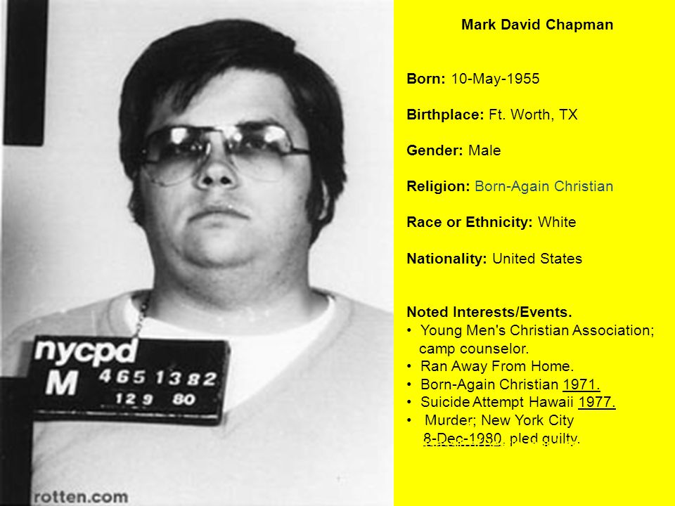 Birthplace: Ft. Worth, TX Gender: Male Religion: Born-Again Christian
