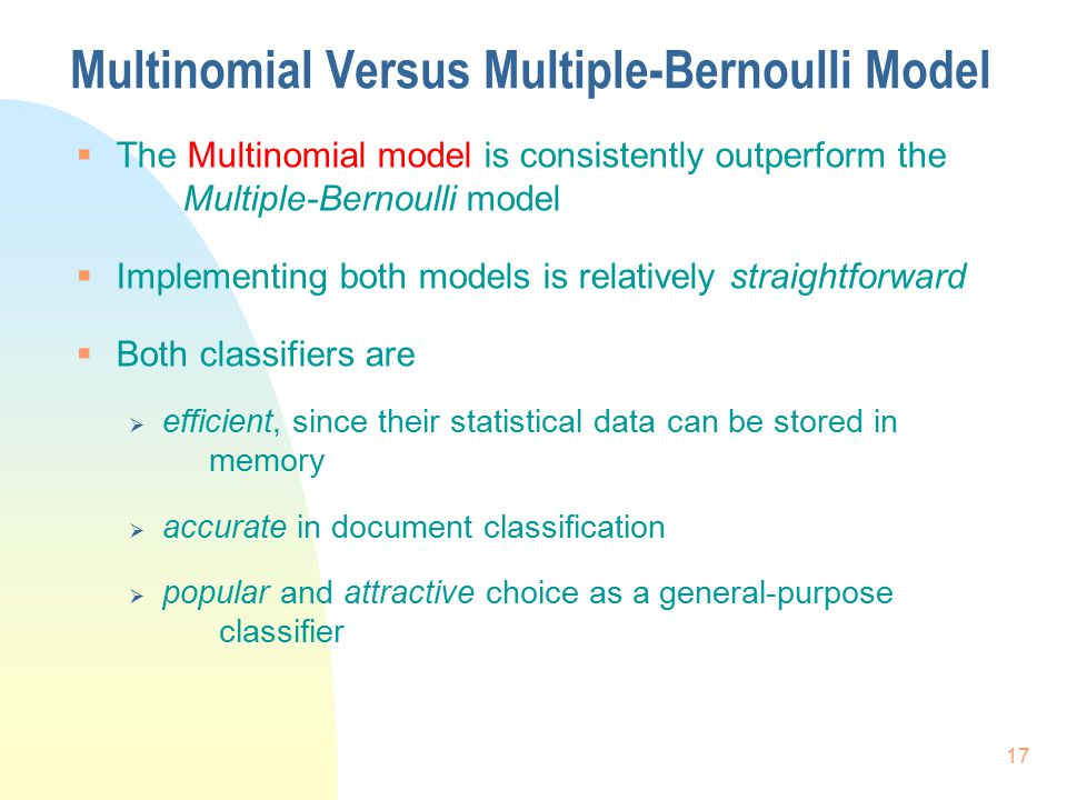 Multinomial Versus Multiple-Bernoulli Model