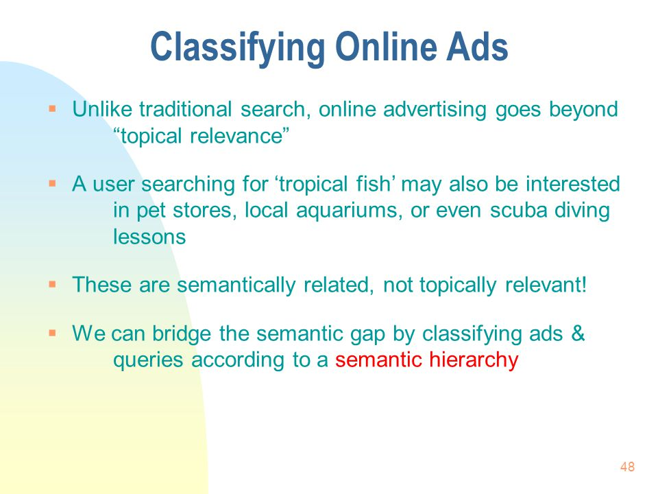 Classifying Online Ads