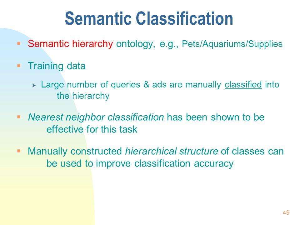 Semantic Classification