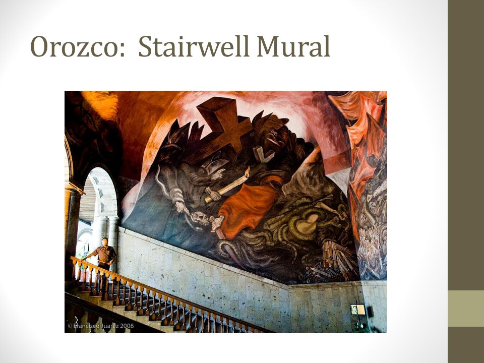 Orozco: Stairwell Mural