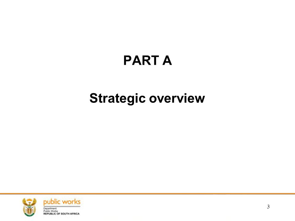 PART A Strategic overview