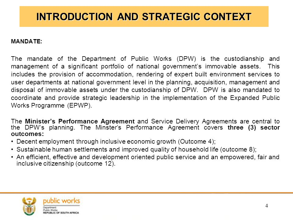 INTRODUCTION AND STRATEGIC CONTEXT