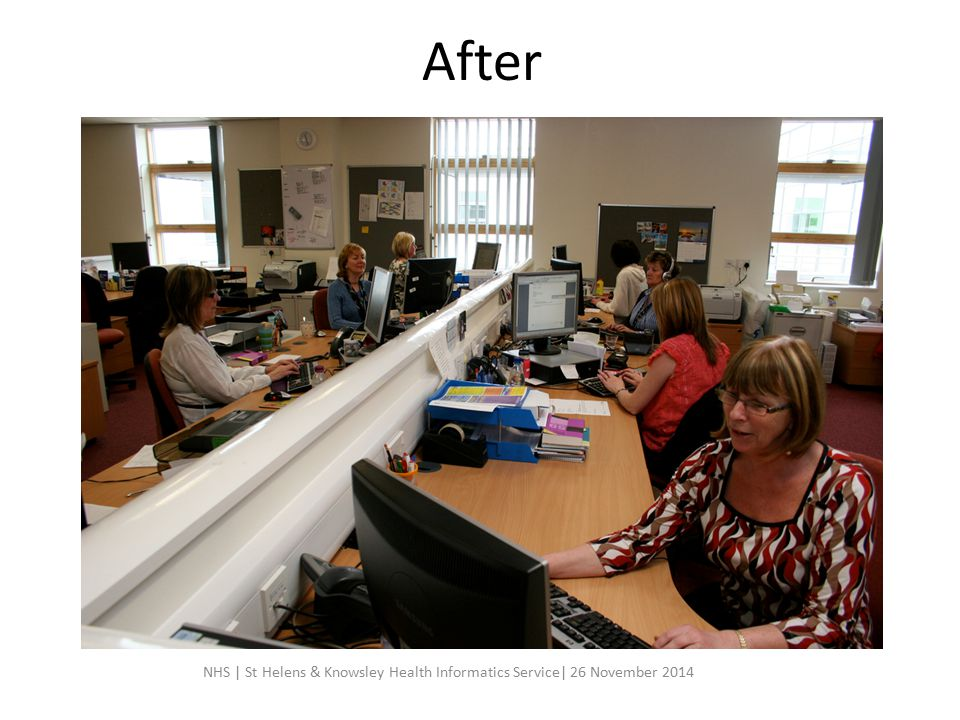 After NHS | St Helens & Knowsley Health Informatics Service| 26 November 2014