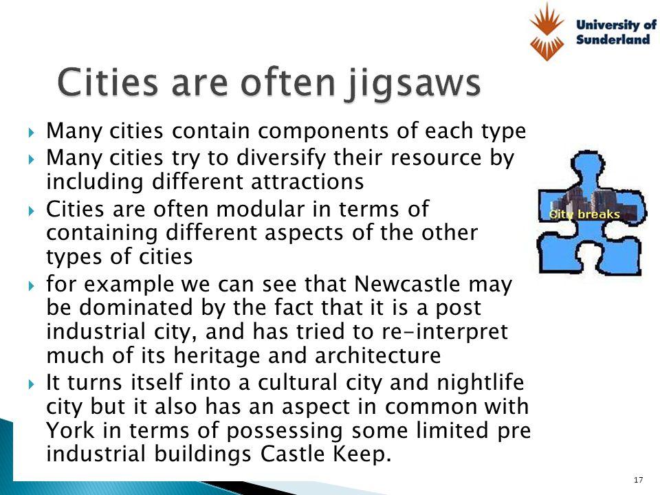 Cities are often jigsaws