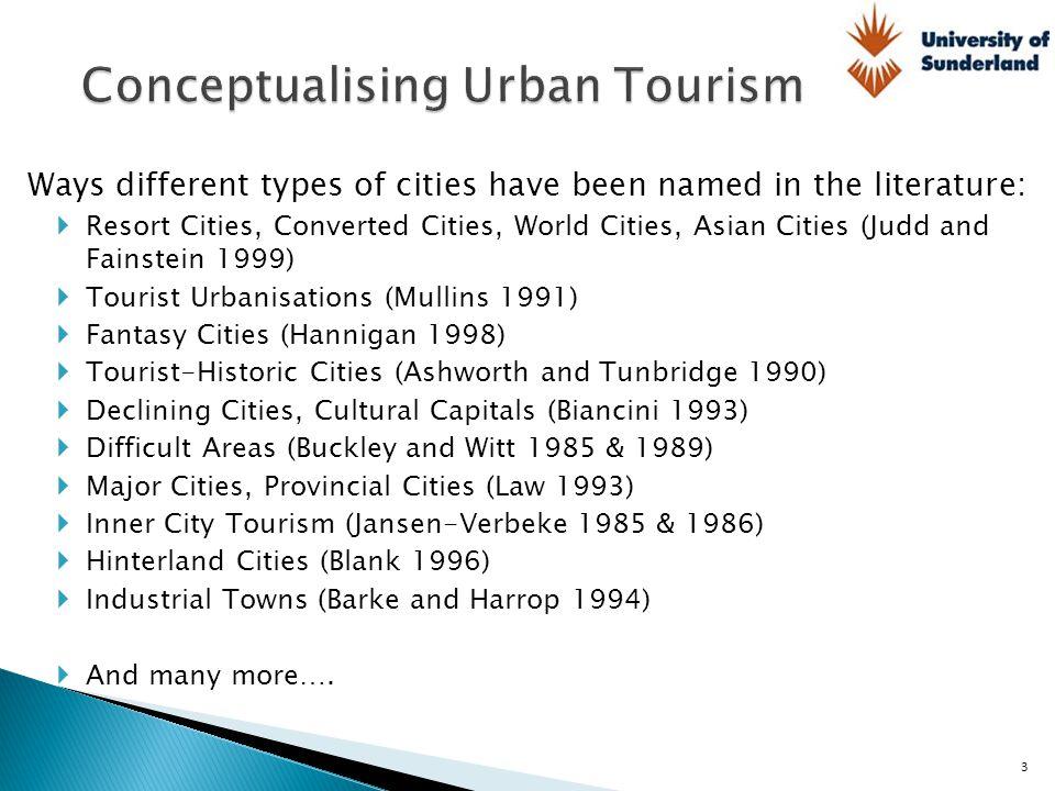 Conceptualising Urban Tourism