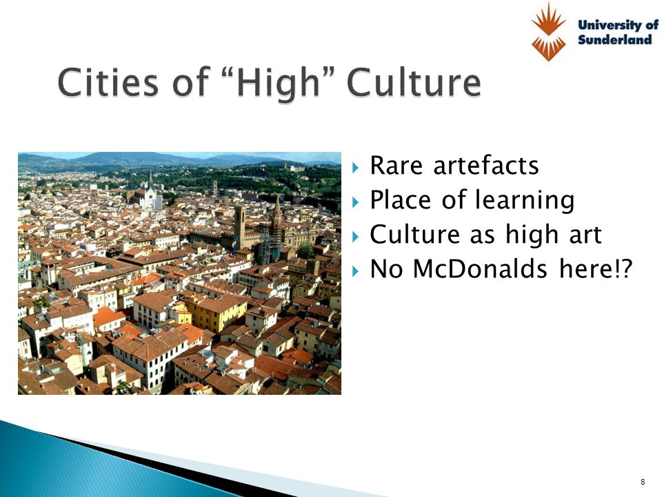 Cities of High Culture