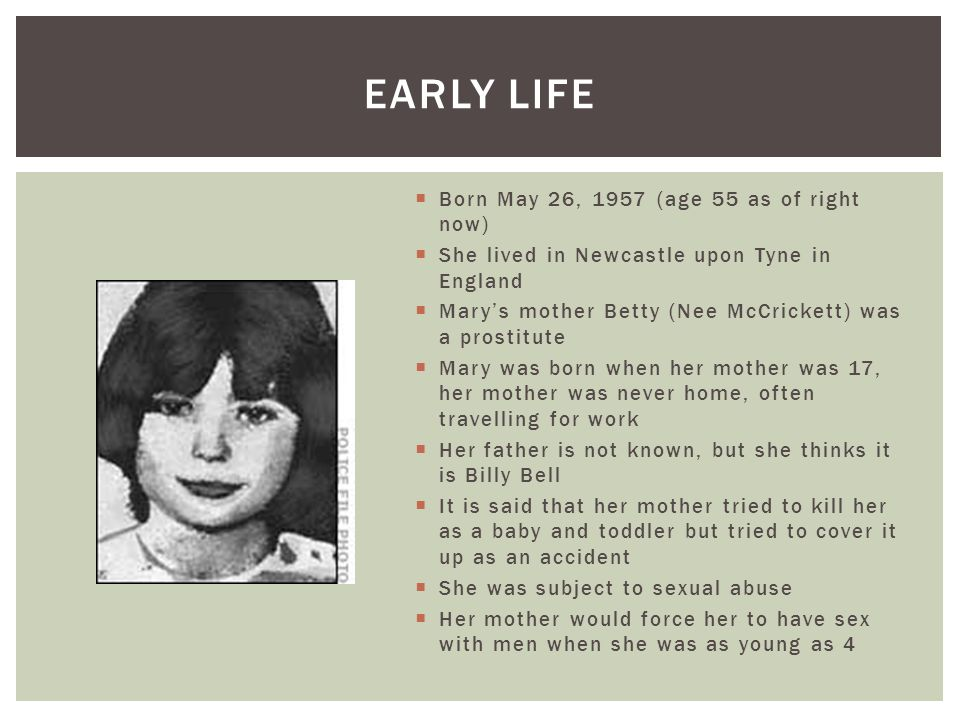 Early life Born May 26, 1957 (age 55 as of right now)