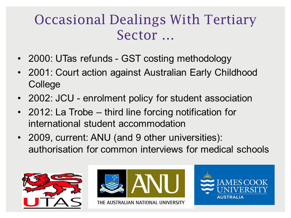Occasional Dealings With Tertiary Sector …