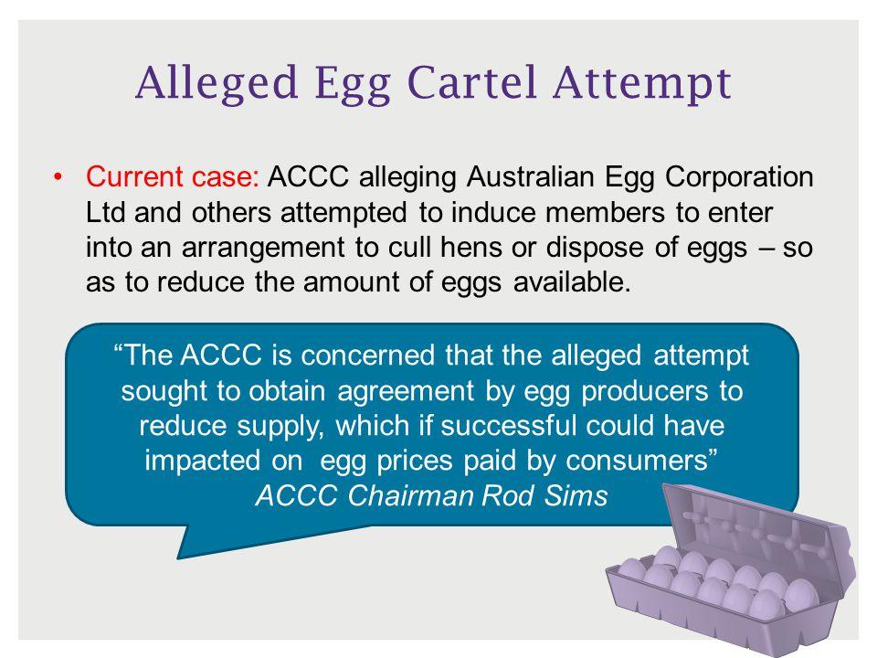 Alleged Egg Cartel Attempt