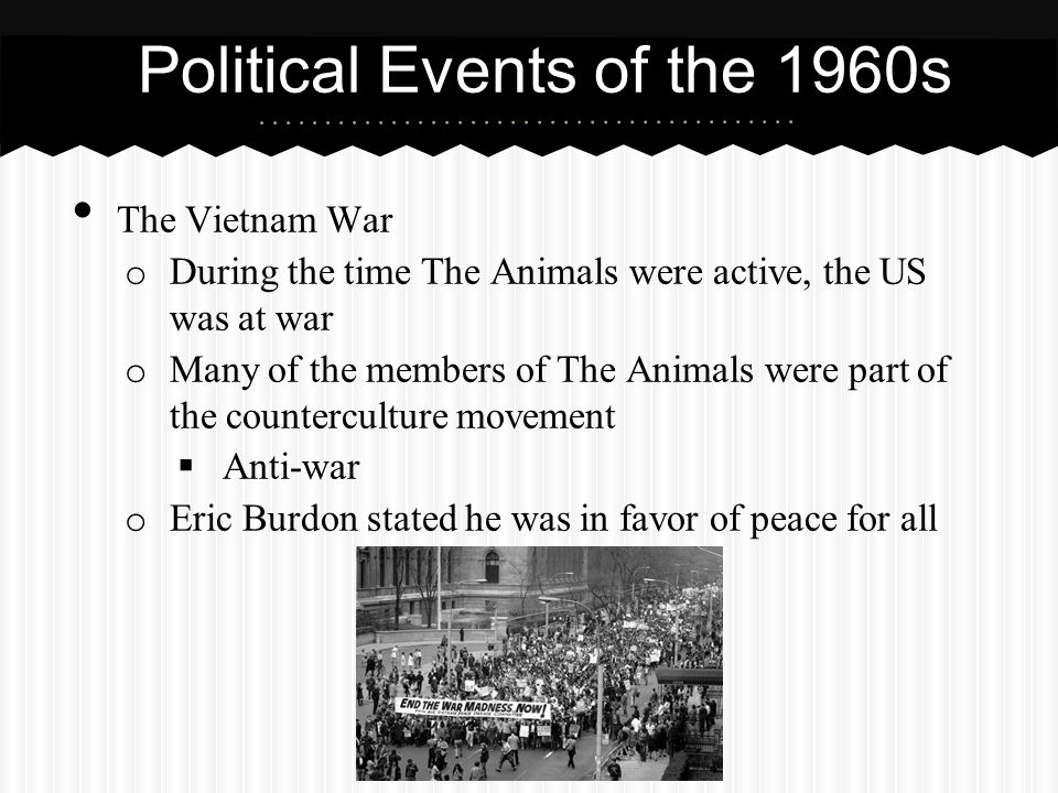 Political Events of the 1960s