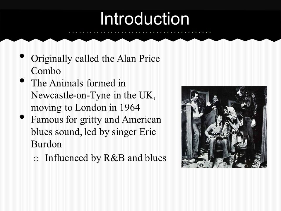 Introduction Originally called the Alan Price Combo
