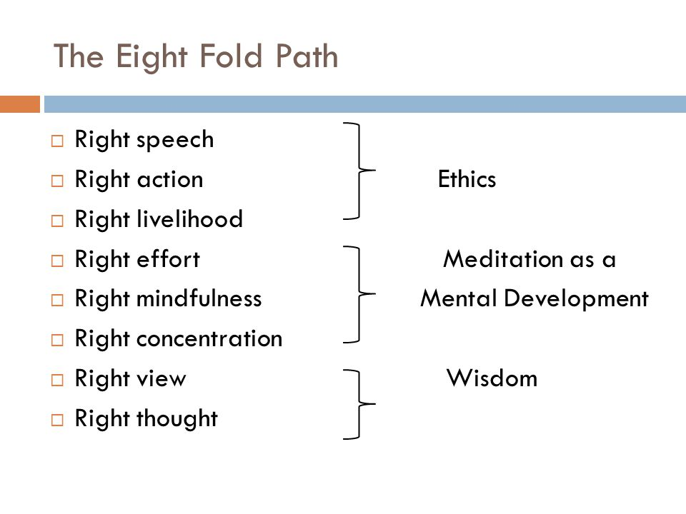 The Eight Fold Path Right speech Right action Ethics Right livelihood