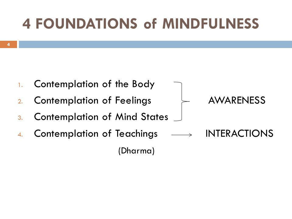 4 FOUNDATIONS of MINDFULNESS
