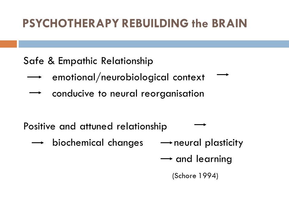 PSYCHOTHERAPY REBUILDING the BRAIN
