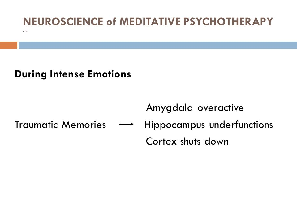 NEUROSCIENCE of MEDITATIVE PSYCHOTHERAPY -1-