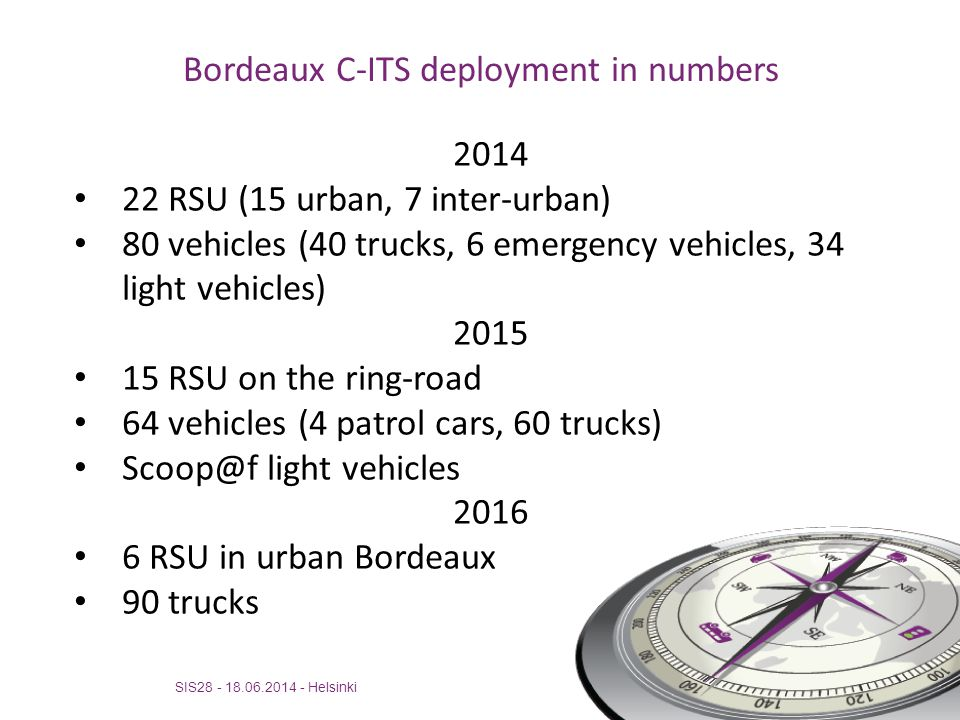 Bordeaux C-ITS deployment in numbers