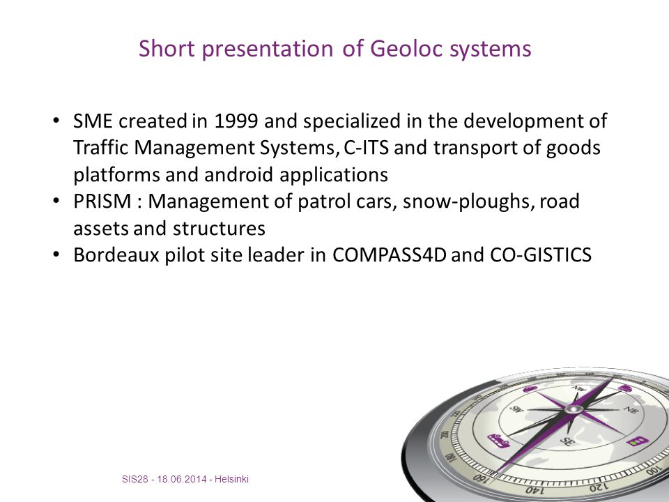 Short presentation of Geoloc systems