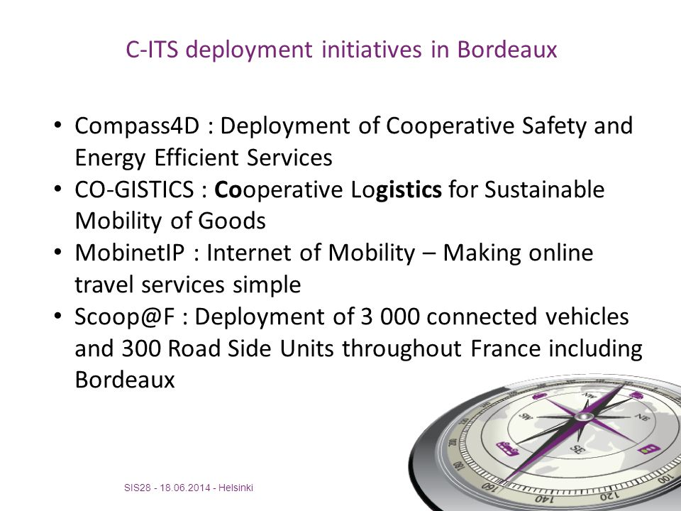 C-ITS deployment initiatives in Bordeaux