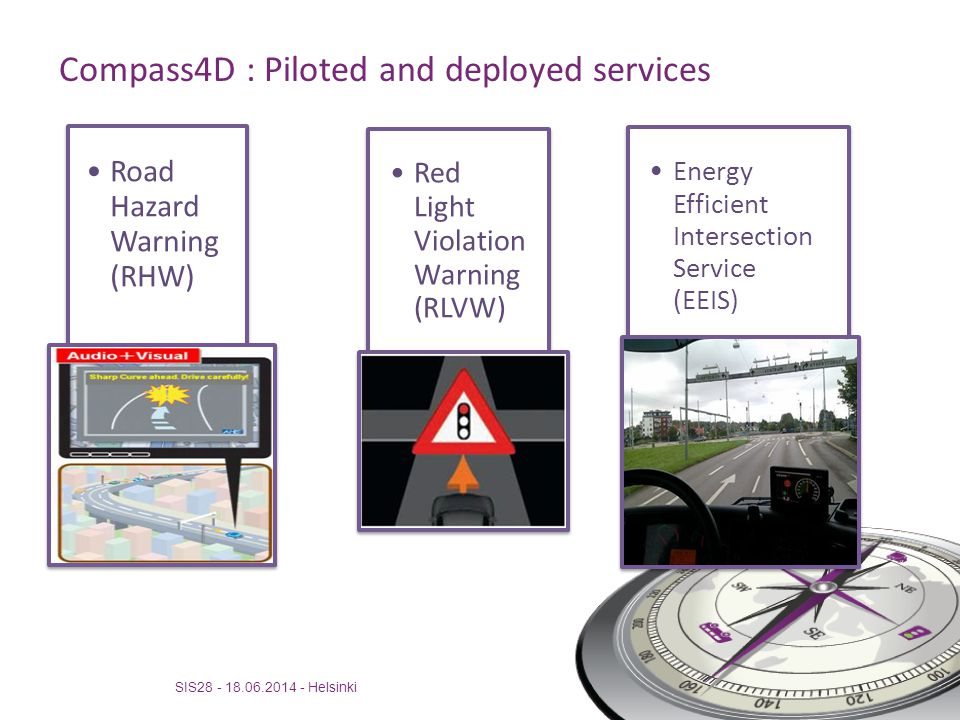 Compass4D : Piloted and deployed services