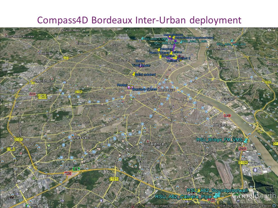Compass4D Bordeaux Inter-Urban deployment