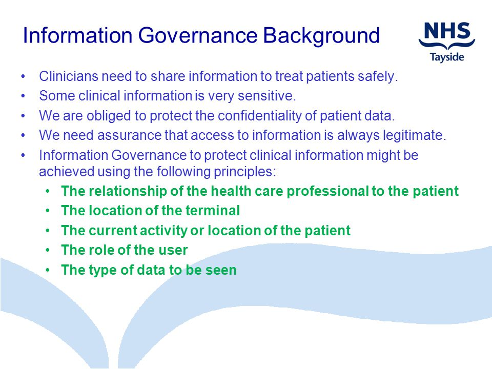 Information Governance Background