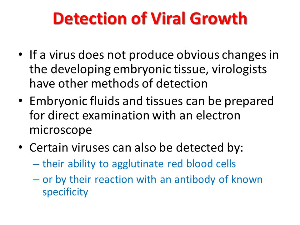 Detection of Viral Growth
