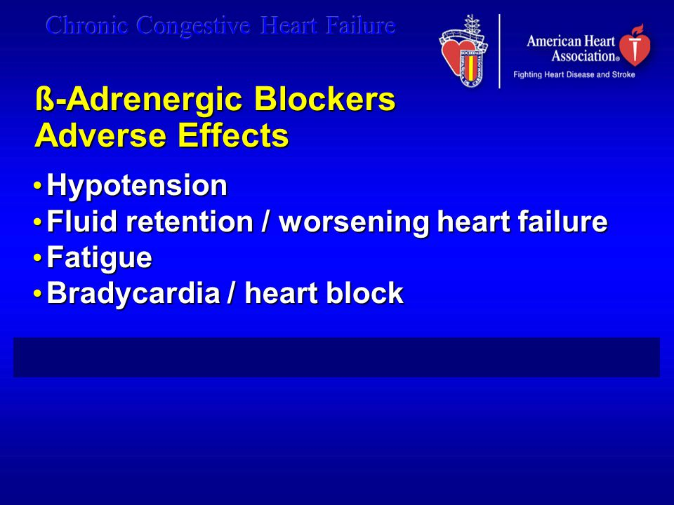 ß-Adrenergic Blockers Adverse Effects