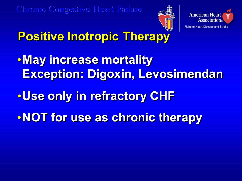 Positive Inotropic Therapy