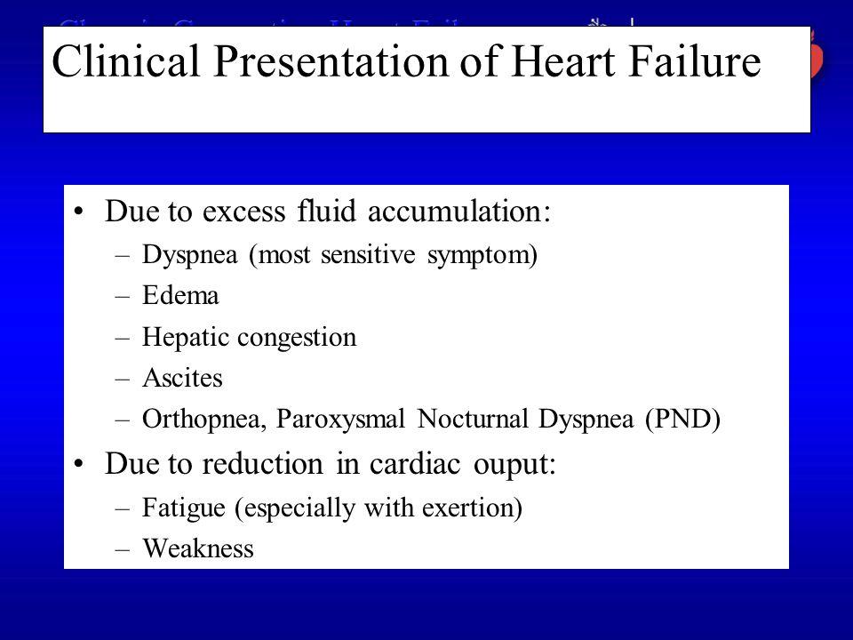 Clinical Presentation of Heart Failure