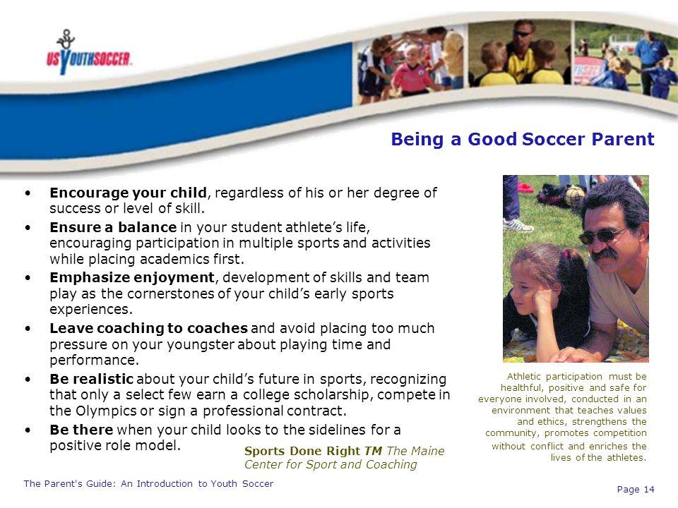 Being a Good Soccer Parent