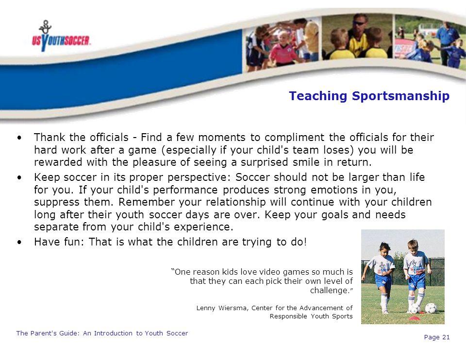 Teaching Sportsmanship