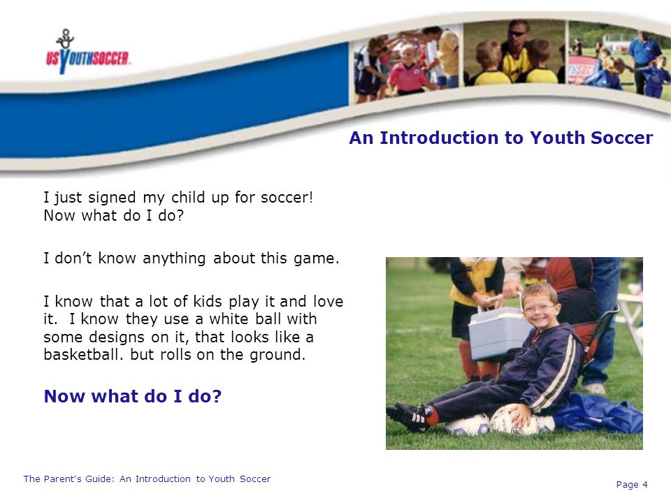 An Introduction to Youth Soccer