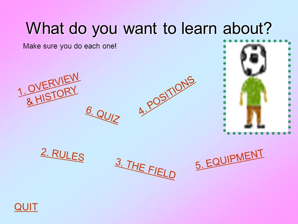 What do you want to learn about