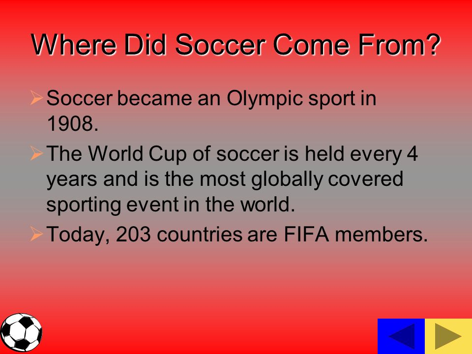 Where Did Soccer Come From