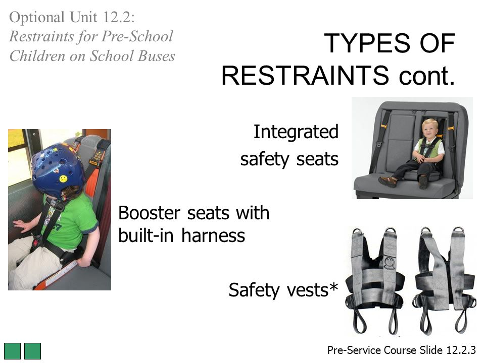 TYPES OF RESTRAINTS cont.