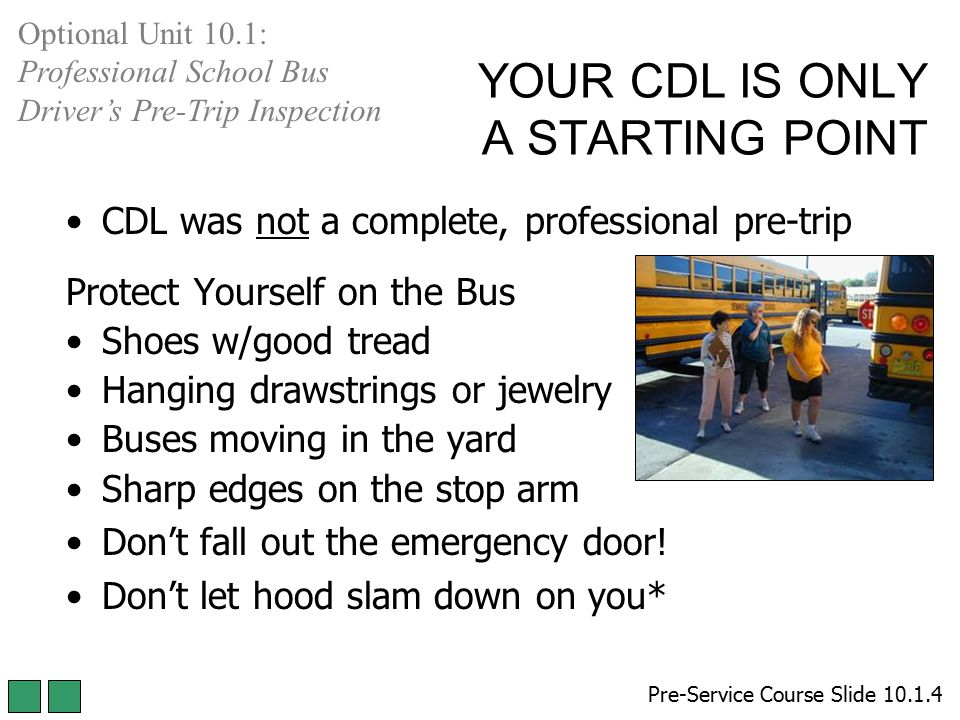 YOUR CDL IS ONLY A STARTING POINT