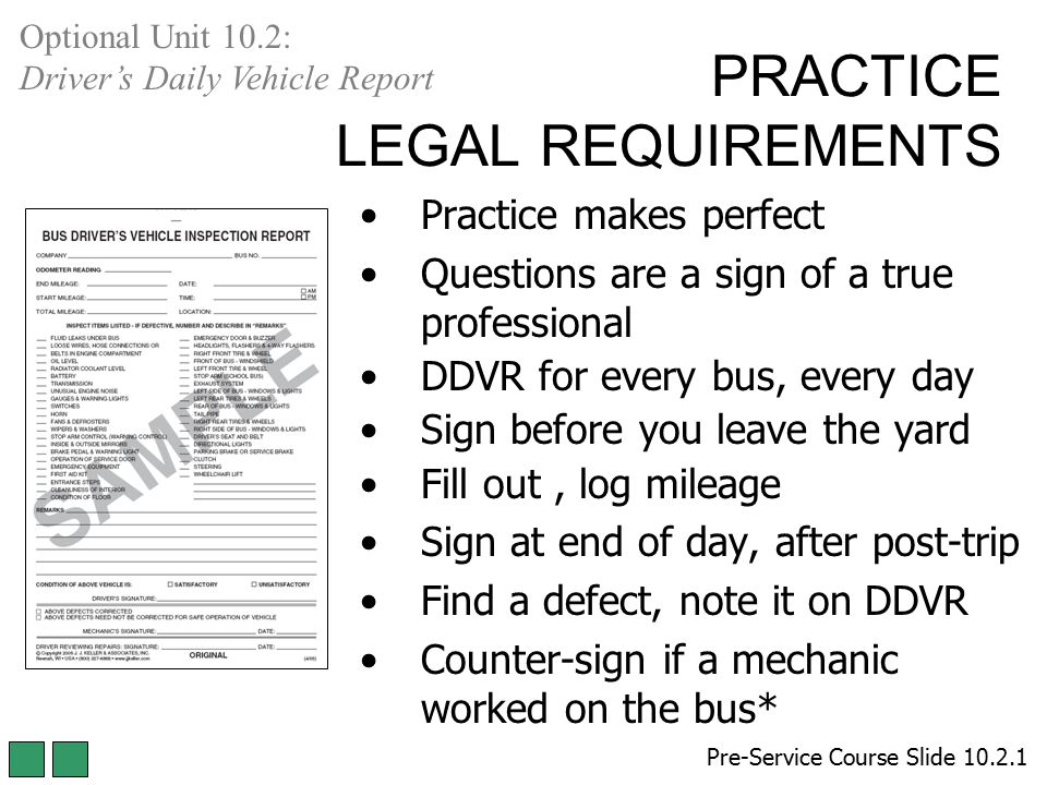 PRACTICE LEGAL REQUIREMENTS