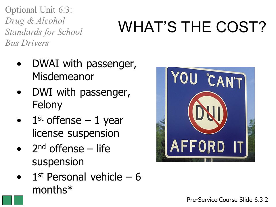 WHAT'S THE COST DWAI with passenger, Misdemeanor