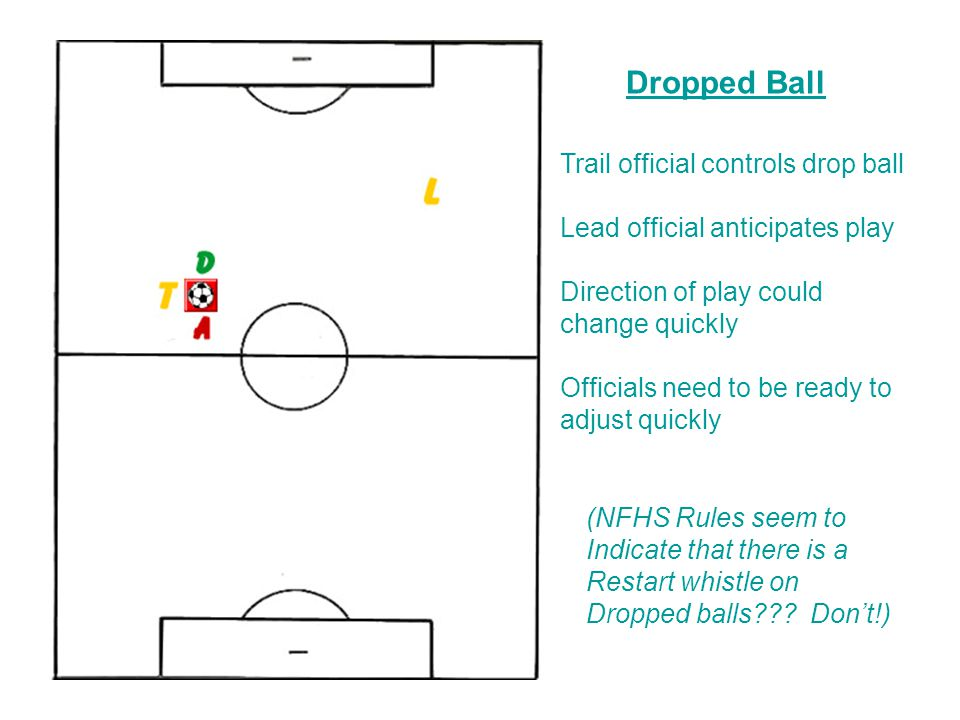 Dropped Ball Trail official controls drop ball