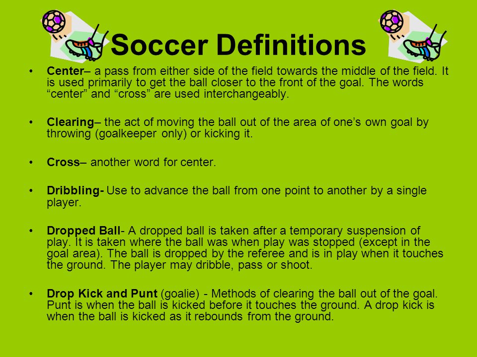 Soccer Definitions