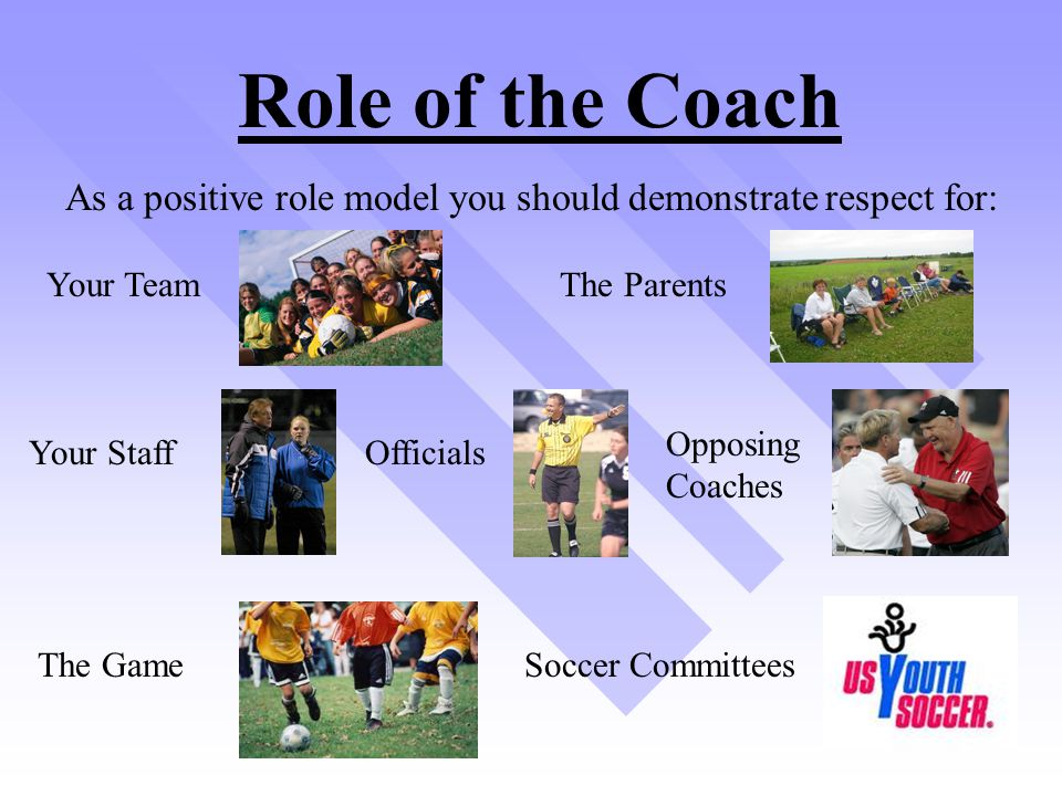 As a positive role model you should demonstrate respect for: