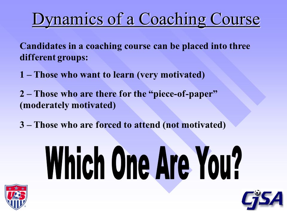 Dynamics of a Coaching Course