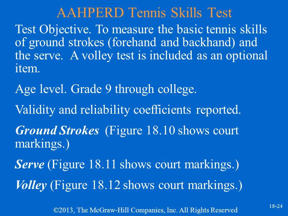 AAHPERD Tennis Skills Test